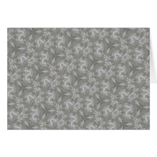 Antique Silver Gray Decorative Kaleidoscopic Card