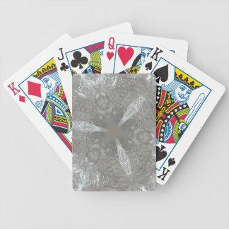 Antique Silver Gray Decorative Kaleidoscopic Poker Deck