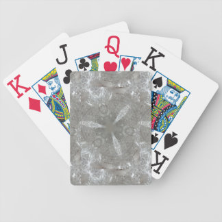 Antique Silver Gray Decorative Kaleidoscopic Poker Deck
