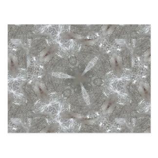 Antique Silver Gray Decorative Kaleidoscopic Postcard