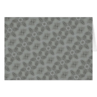 Antique Silver Gray Decorative Kaleidoscopic Star Card