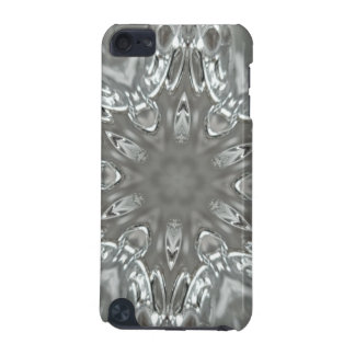Antique Silver Gray Decorative Kaleidoscopic Star iPod Touch (5th Generation) Case