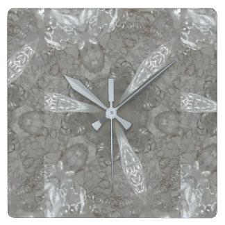 Antique Silver Gray Decorative Kaleidoscopic Wallclock