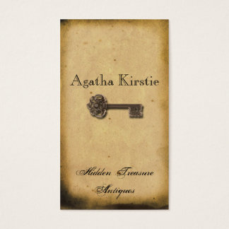 Antique Skeleton Key Business Card