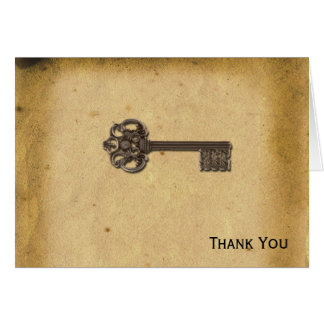 Antique Skeleton Key Card