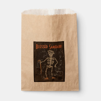 Antique Skeleton Samhain Favour Bag