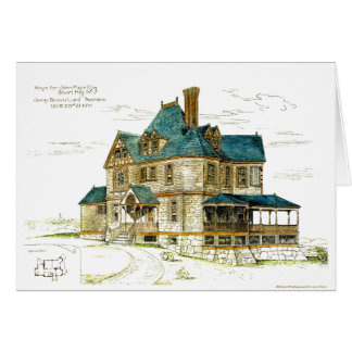 Antique Sketch 54 Western in Short Hills NJ Card