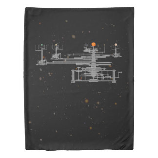 Antique Solar System Orrery Planetary Duvet Cover