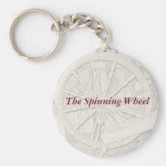 Antique Spinning Wheel Arts Crafts Keyring