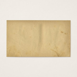Antique Stained Blank Distress Yellow Paper Business Card