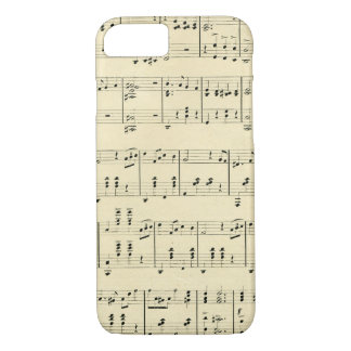 Antique Stained Sheet Music Old Fashioned iPhone 8/7 Case