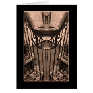Antique Stairway Abstract Card