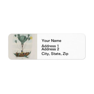 Antique Steampunk Airship Return Address Label