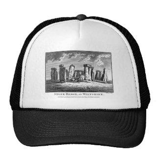 Antique Stonehenge woodcut Stone Circle Engraving Trucker Hat