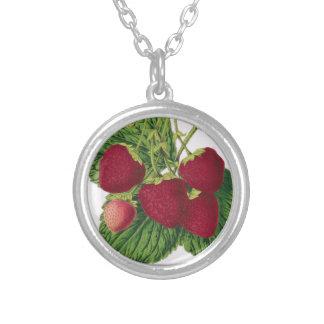 Antique Strawberry Print Necklace