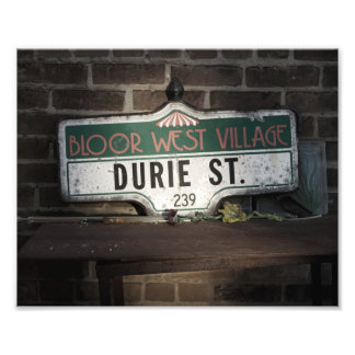 Antique Street Sign Photo Print
