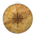 Antique Style Compass Rose Dartboard