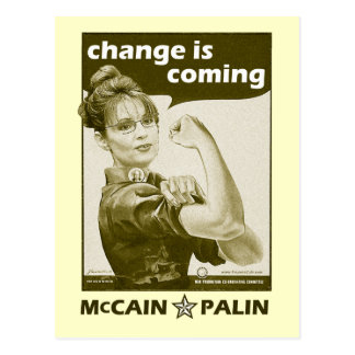 Antique-Style Sarah Palin Postcard