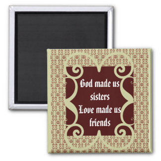 ANTIQUE STYLE SISTERS MAGNET