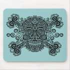 Antique Sugar Skull & Crossbones II Mouse Pad