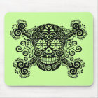 Antique Sugar Skull & Crossbones Mouse Pad