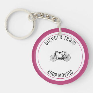 Antique tandem Double-Sided round acrylic keychain