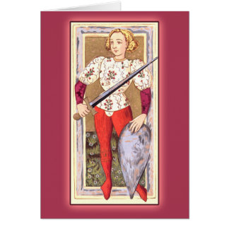 Antique Tarot Playing Card: Jack of Swords Card