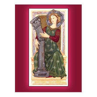 Antique Tarot Playing Card:  Strength Postcard