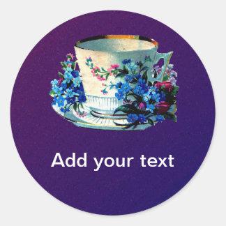 Antique Teacup Round Sticker