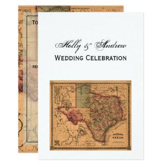 * Antique Texas Map #1 Card