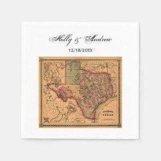 * Antique Texas Map #1 Disposable Napkin