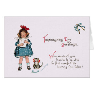 Antique Thanksgiving Humor Greeting Card