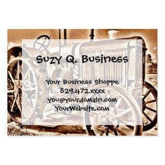Antique Tractor Farm Equipment Classic Sepia Large Business Card