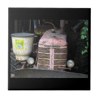 Antique Tractor  Fine Art Print Ceramic Tile