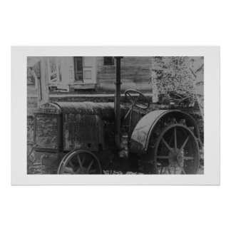 Antique Tractor Poster
