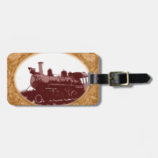 Antique Train Bag Tag