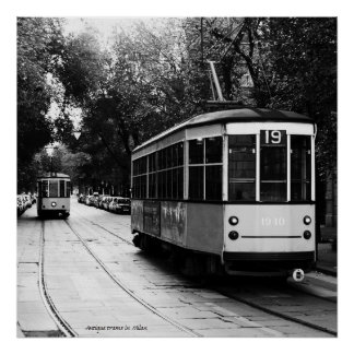 Antique Trams Poster