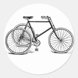 Antique Tricycle Round Sticker