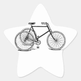 Antique Tricycle Star Sticker