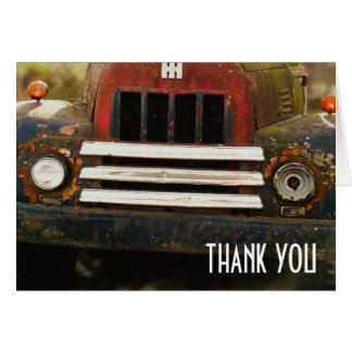 Antique Truck Grill Thank You Card