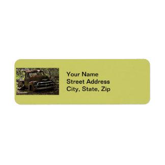 Antique Truck Return Address Label