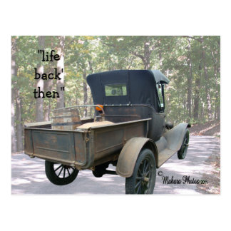 antique truck & still postcard- customize postcard