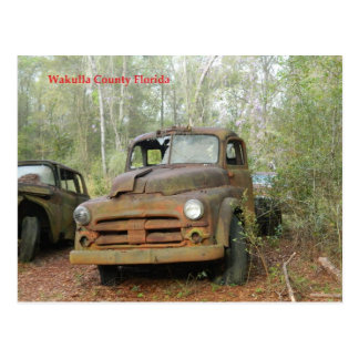 Antique Truck Wakulla County Florida Postcard