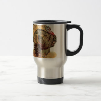 Antique Turkey illustration Thanksgiving Travel Mug