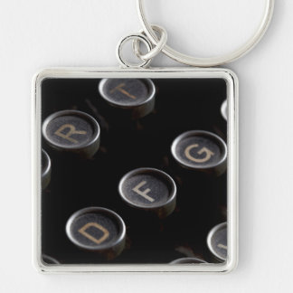 Antique Typewriter Keys Keychain