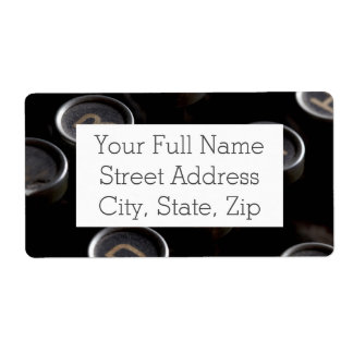 Antique Typewriter Keys Shipping Label