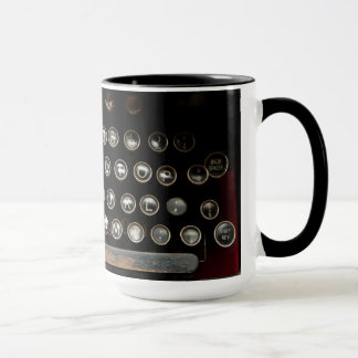 Antique typewriter mug
