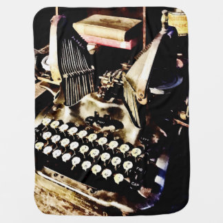 Antique Typewriter Oliver #9 Baby Blanket