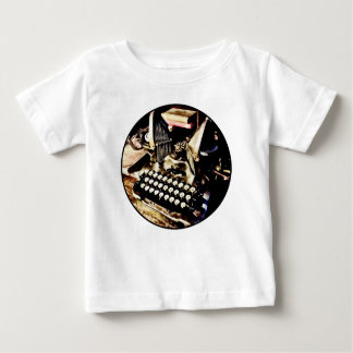 Antique Typewriter Oliver #9 Baby T-Shirt