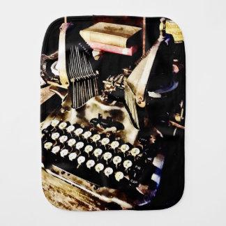 Antique Typewriter Oliver #9 Burp Cloth